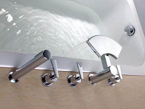 Five Hole Roman Tub Faucet S2057CW from Sumerain