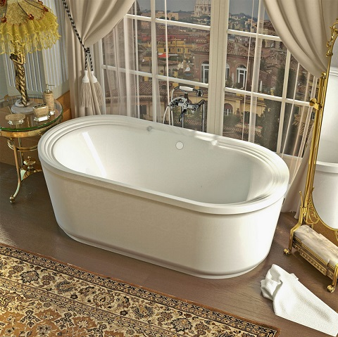Padre 34x67 Oval Freestanding Soaking Tub VZ3467RS from Venzi
