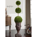 Uttermost Preserved Boxwood, Triple Topiary 60093. BOTANICALS