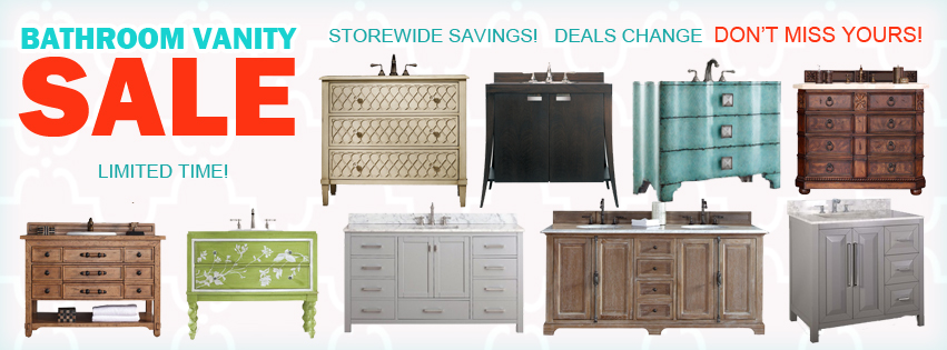 large vanity sale. Home Goods Discount Coupons and Special Deals