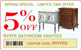 5% off Ryvyr bathroom vanities coupon