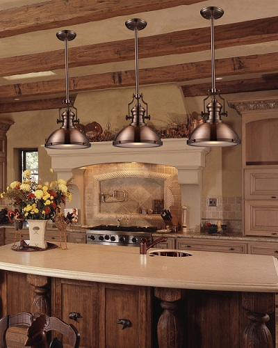 Go bold with big industrial style pendant lights for your kitchen chadwick pendant in antique copper 66144 1 led from elk lighting aloadofball Image collections