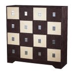 Sterling Lighting CHOC CREAM CROC MULTI CHEST