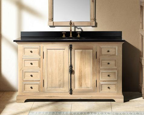 "Providence 60"" Natural Oak Bathroom Vanity From James Martin Furniture"