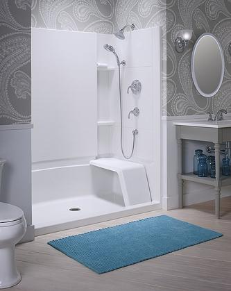 Accord Age In Place Seated Shower With Grab Bar Backers From Sterling