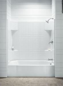 Accord Shower Tub Combo With Small Tile Walls From Sterling