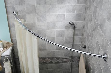 Curved Shower Rod In Polished Chrome