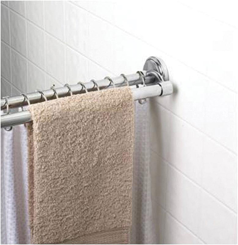Double Shower Rod Plus Towel Rack From Speakman