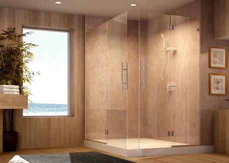 dresden frameless shower enclosure from roda by basco
