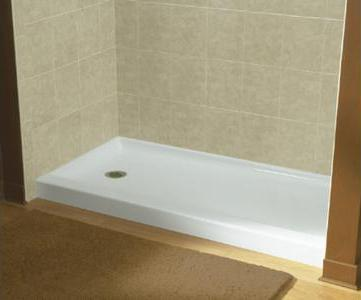 rocks and floor tile tiled install popular base to showers small floors shower for how