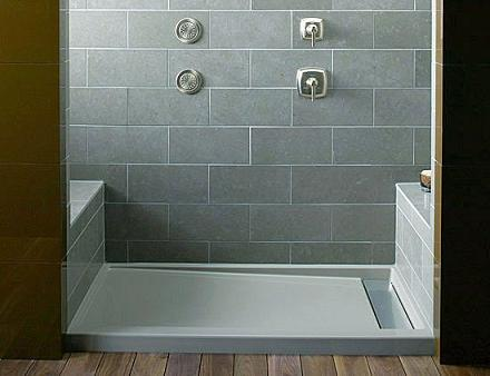 watch tile shower youtube easy how floor to a quick