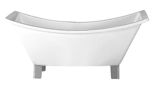 Modern Double Slipper Tub With Chrome Feet From Barclay