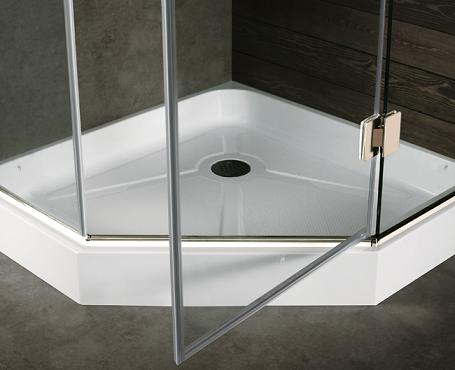 Neo-Angle Shower Base From Vigo Industries