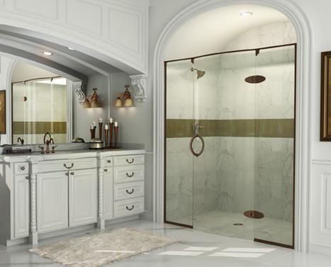 preceria shower door from roda by basco shower doors a surprising modern update for