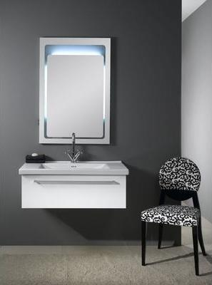 Fly FL3 Backlighted Mirror And Bathroom Vanity From Iotti