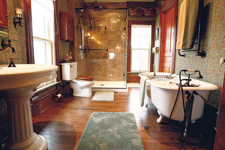 Victorian Bathrooms Were Darker Than Modern Ones  With Bold Patterns And  Lots Of Texture. Victorian Bathroom Design   Authentic Period Design For Your Bathroom