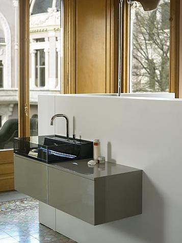Aeri Lacquered Wood Wall Mount Sink From Whitehaus