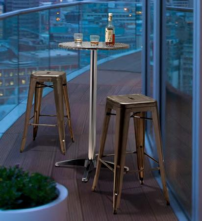 Christabel Folding Bar Table And Marius Stackable Bar Stools From Zuo