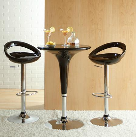 Clyde Adjustable Table And Agnes Bar Stools From EuroStyles