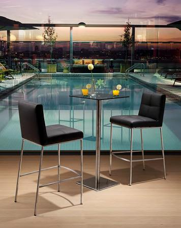 Dimension Bar Table With Box Bar Chairs From Zuo