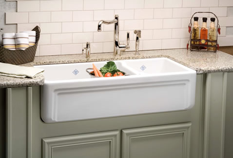 Shaws Original Double Basin Fireclay Sink From Rohl