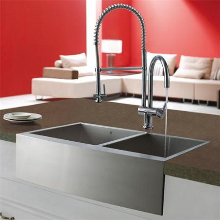 This Vigo Pull Down Culinary Style Kitchen Faucet Will Add An Instant Wow Factor To Any Kitchen