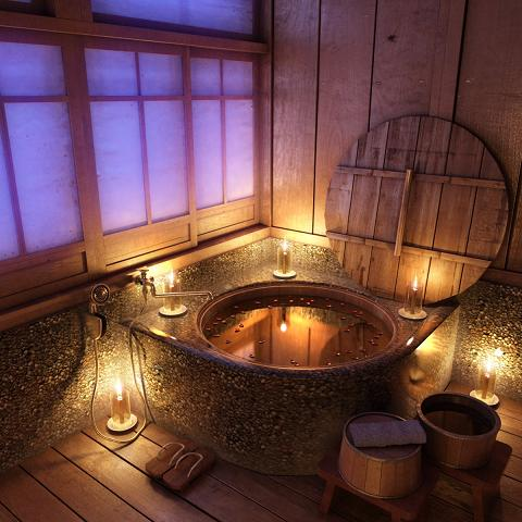 Traditional Wooden Japanese Soaking Tub