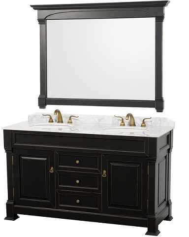 Andover Traditional Doube Bathroom Vanity From The Wyndham Collection