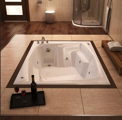Caresse Whirlpool Tub From Atlantis With Floor Mount Installation