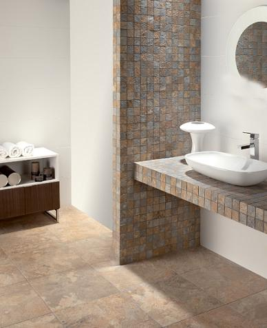 Dolmen Glazed Porcelain mosaic Tiles From Tesoro