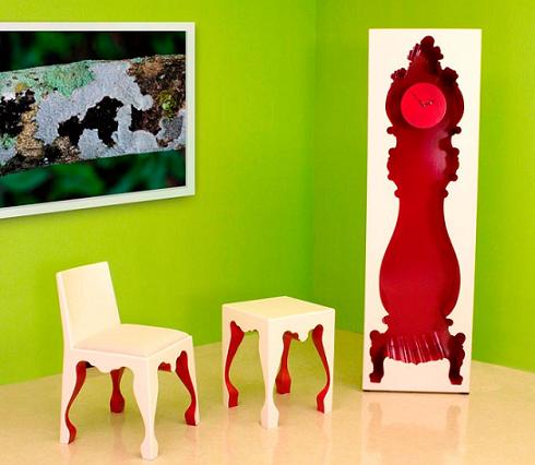 InsideOut Grandfather Clock From PolArt