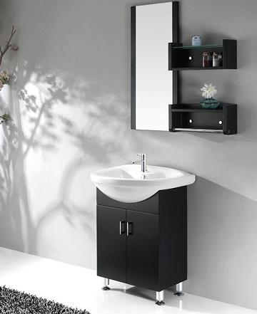 Black Bathroom Vanity With Ceramic Basin From Legion Furniture. Black And White Bathroom Vanities  A High Contrast Modern Bathroom