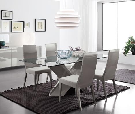 Fly Glass Dining Table From Rossetto