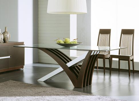 Mirage Glass Dining Table From Rossetto