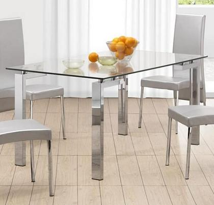 Roca Glass Dining Table From Zuo