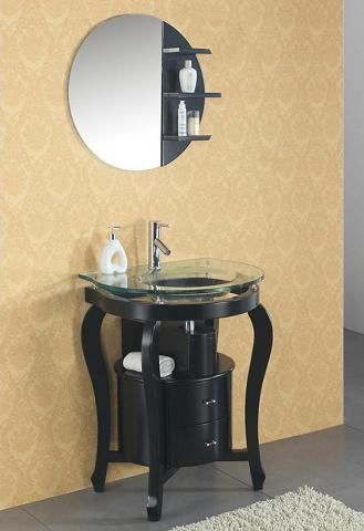 Ronde Black Bathroom Vanity From Virtu USA