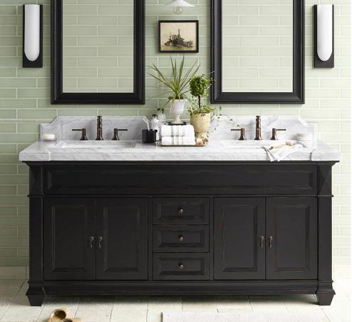 Charmant Torino Weathered Black Bathroom Vanity Cabinet From RonBow