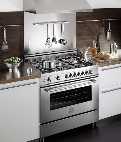 36 inch stainless steel proseries range from bertazzoni