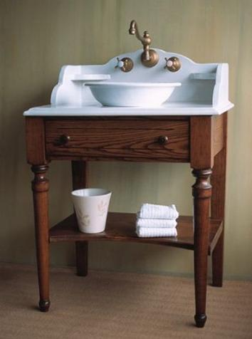 Bonne Maman Solid Ash Lavatory Console From Herbeau