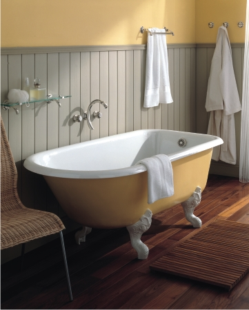 Cast Iron Clawfoots  Like This Retro Tub From Herbeau Are Not Only More Traditional Clawfoot Tubs Pros And Cons For Your Bathroom Remodel