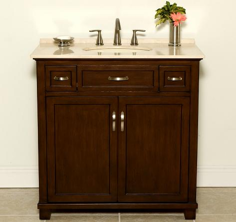 Attirant Jackson Bathroom Vanity With Two Drawers From B And I Direct
