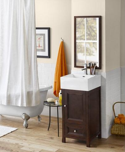 Juliet Wood Vanity Cabinet From Ronbow. Contemporary Cottage Style Bathroom Vanities From Ronbow