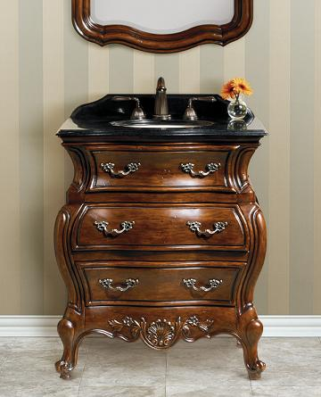 Bathroom Vanities As Bathroom Furnishings. Lorraine Antique Bombe Chest  From Cole And Co