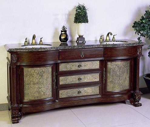 ornate antique bathroom vanity from legion furniture - Antique Bathroom Vanity