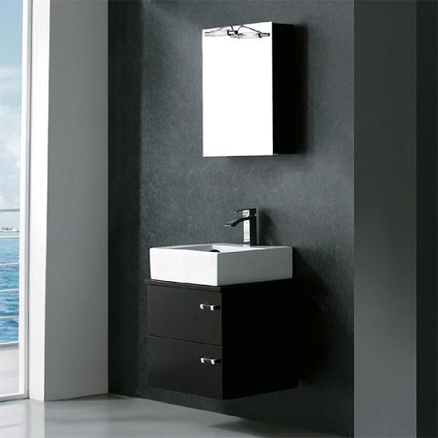 Wenge Modern Bathroom Vanity With Ceramic Vessel Sink From Vigo Industries