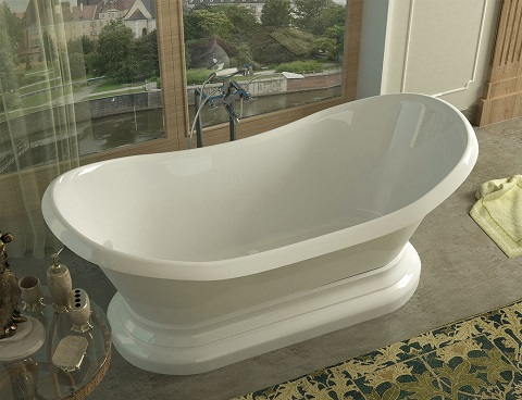 While Not Technically A Clawfoot, This Midas Pedestal Tub From Venzi Offers  And Excellent View