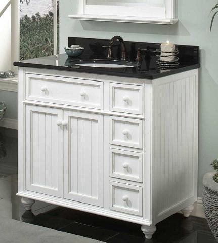 36 Inch Cottage Retreat Basic Bathroom Vanity From Sagehill Designs