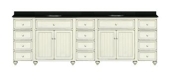 96 Inch Double Bathroom Vanity From The Modular Cottage Retrate Collection By Sagehill Designs