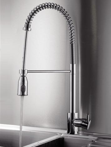 Cascada Commercial Style Pullout Spray Kitchen Faucet From Ruvati