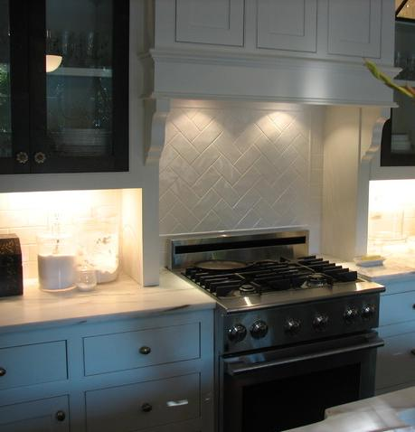 Herringbone Style Subway Tile Backsplash (By Martini Tile LLC)